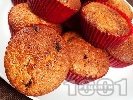 Рецепта Лесни мъфини с банани и шоколад (тесто от брашно, олио, яйце и кисело мляко)
